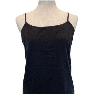 Ann Taylor Loft Lace Cami Black NEW Large